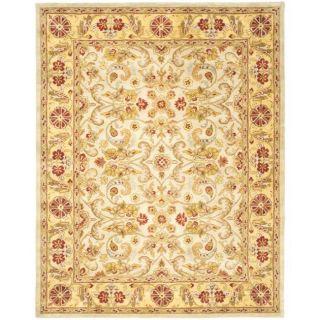 Handmade Classic Grey/ Light Gold Wool Rug (6 x 9)