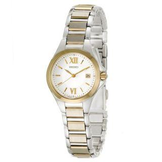 Seiko Womens Dress Two tone Stainless Steel Quartz Watch