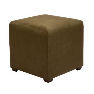 Tyler Moss Green Cube Ottoman