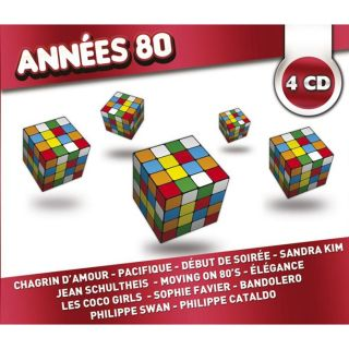 ANNEES 80 COLLECTION 4 CD   Compilation   Achat CD COMPILATION pas