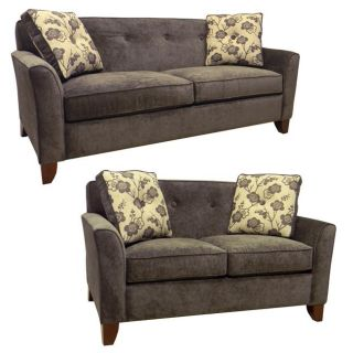 Brooke Charcoal Grey Fabric Sofa Bed Sleeper and Loveseat