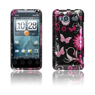 Luxmo HTC EVO Shift 4G Pink Butterfly Protector Case
