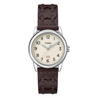 Timex Womens Weekender Leather Strap Watch
