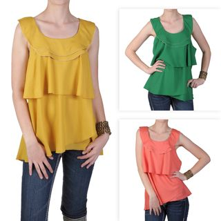 Journee Collection Womens Contemporary Plus Scoop Neck Top