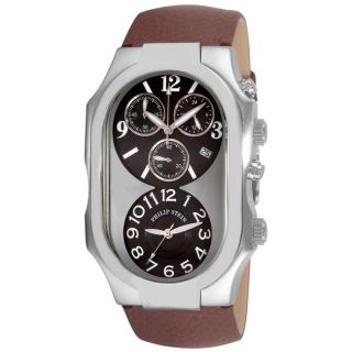 Philip Stein Mens Signature Brown Strap Chronograph Watch