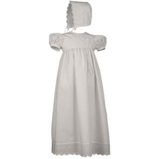 Cherubic Baby Girls Christening Gown and Bonnet