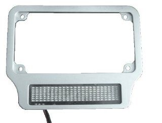 Chrome Motorcycle LED Scrolling License Plate Frame