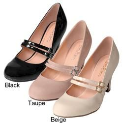 Journee Collection Womens WENDY 09 Patent Mary Jane Pumps