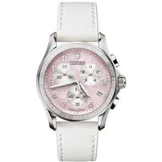 Swiss Army Womens Chrono Classic Pink Mother of Pearl Dial