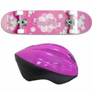 Razor X Sweet Pea Skateboard With V10 Youth Helmet Pink Kit Today $47