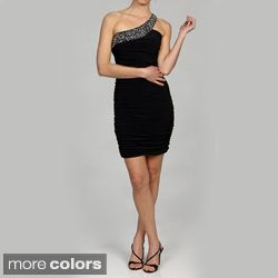 Issue New York Womens One shoulder Sequin Accent Cocktail Dress Today