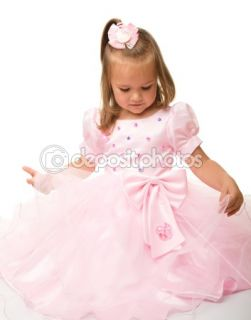 Cute little girl in pink dress  Stock Photo © Сергей