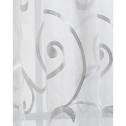 Bleuit Floral White Embroidered Organza 84 inch Sheer Curtain Panel