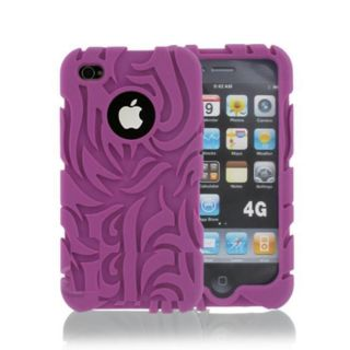 Purple Tribal iPod Touch 4 Silicone Case