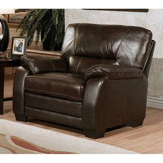 Abbyson Living Wilshire Premium Top grain Leather Armchair