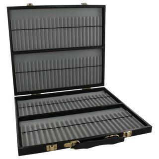 Super sized Black Leatherette 96 pen Display Case