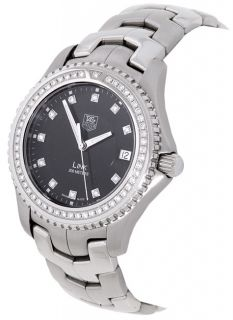 Tag Heuer Link Mens Stainless Steel Diamond Watch