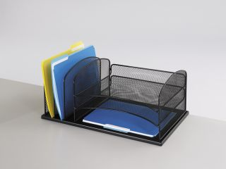 Safco 6 Section Mesh Desk Organizer