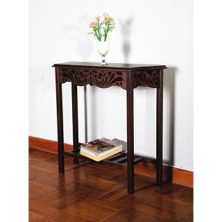 Console sofa table with storage drawers in espresso finish for 35 console table