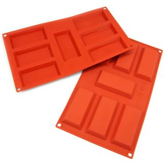 Freshware 7 cavity Financier Silicone Mold/ Baking Pans (Pack of 2