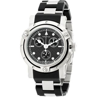 Nautica Mens Stainless Steel Chronograph Watch