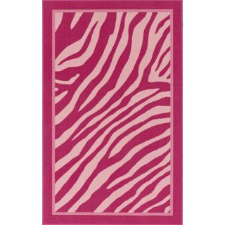 Alexa Playtime Collection Zebra Animal Kids Pink Rug (33 x 5