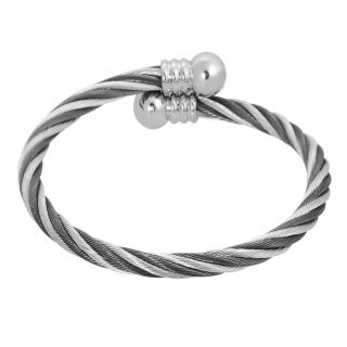 Stainless Steel Twisted Wire Cuff Bracelet