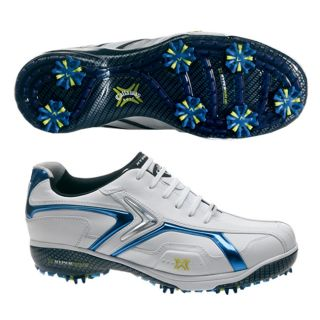 Callaway Mens Hyperbolic X White/ Blue Golf Shoes