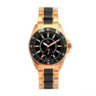 Guess Collection Womens Sport Stainless Steel Black Ceramic Swiss