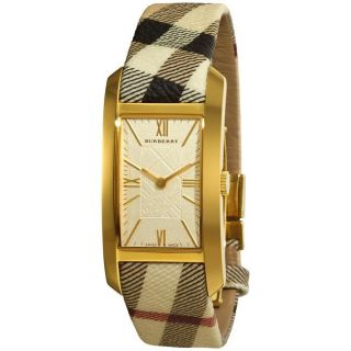 Burberry Womens Nova Check Fabric Strap Watch