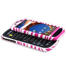 Hot Pink Zebra Rubber coated Case for Samsung Epic 4G D700