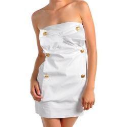 Stanzino Womens White Casual Party Dress