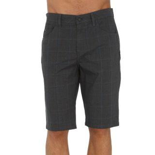 Coloris  gris et bleu. Bermuda QUIKSILVER homme, rayé, 100% coton