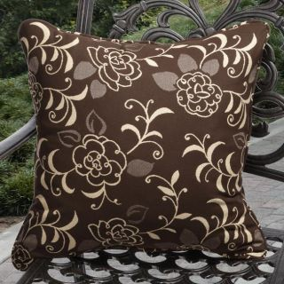 Clara Outdoor Gibson Chocolate Brown Throw Pillows Made with Sunbrella