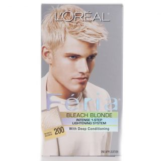 Oreal Feria #200 Bleach Blonde Hair Color (Pack of 4) Today $30.99