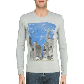 CALVIN KLEIN JEANS T Shirt Homme Gris clair etGris clair et bleu