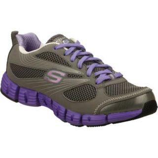 Womens Skechers Stride Gray/Purple