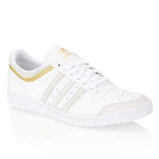 ADIDAS Baskets Top Ten Low Sleek 1 Femme Blanc et or   Achat / Vente