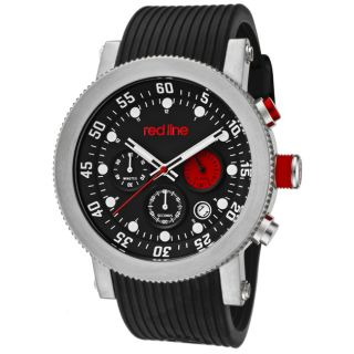 Red Line Mens Compressor Black Silicon Watch