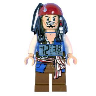 LEGO Pirates of the Caribbean Jack Sparrow Mini Figure Alarm Clock