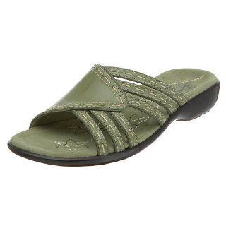 Clarks Womens Begga Slide Sandal,Moss Green,11 M Shoes