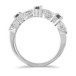 10k Gold Womens 1/3ct TDW Black and White Diamond Wedding Ring