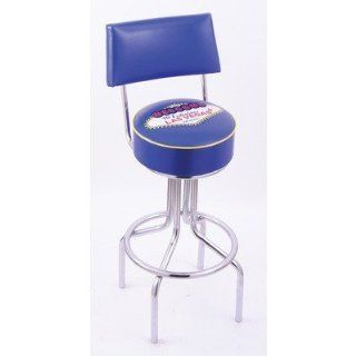 Logo Series Bar Stool with Back Size 25, Frame Type