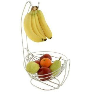 Kitchen Fruit Basket Bowl and Banana Hook Combo Kitchen