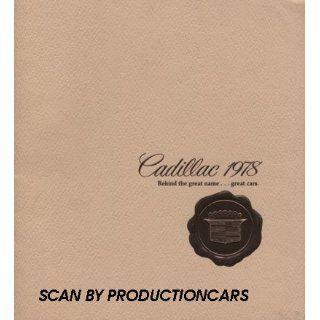 1978 Cadillac Sales Brochure Caalog   Fleewood Brougham
