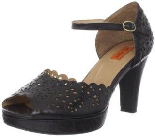 Miz Mooz Womens Laina Ankle Strap Pump,Black,8.5 M US Shoes