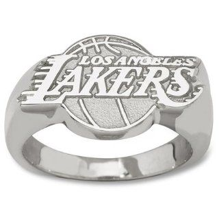 Sterling Silver LOS ANGELES LAKERS LOGO 5/8 RING Sports