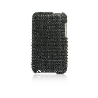 Apple iPod Touch Black Full Diamond Rhinestone Case