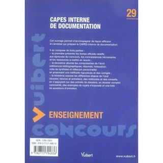 Capes interne de documentation   Achat / Vente livre Isabelle