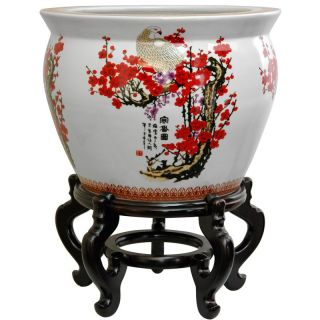 Oriental Home Porcelain 18 inch Cherry Blossom Fishbowl (China) Today